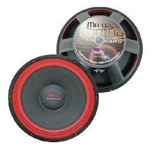 Load image into Gallery viewer, MR.DJ PA218 SUBWOOFER BLACK/RED 750 WATTS 8 Ohms