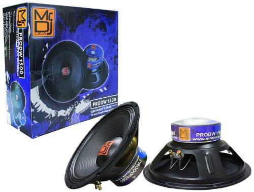 "MR DJ PRODW-1500 12"" Universal Subwoofer  Single Magnet Raw PA/DJ 8ohm Woofer"
