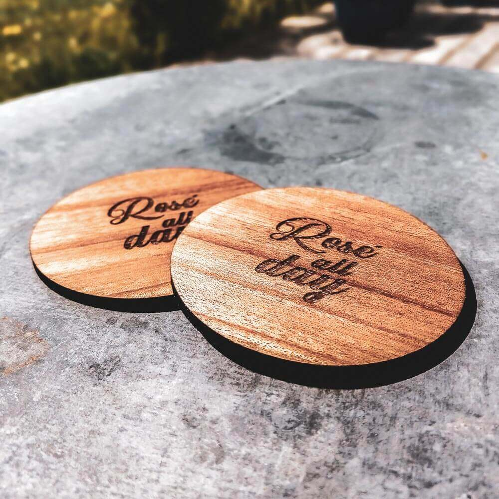 Rosé All Day Coasters