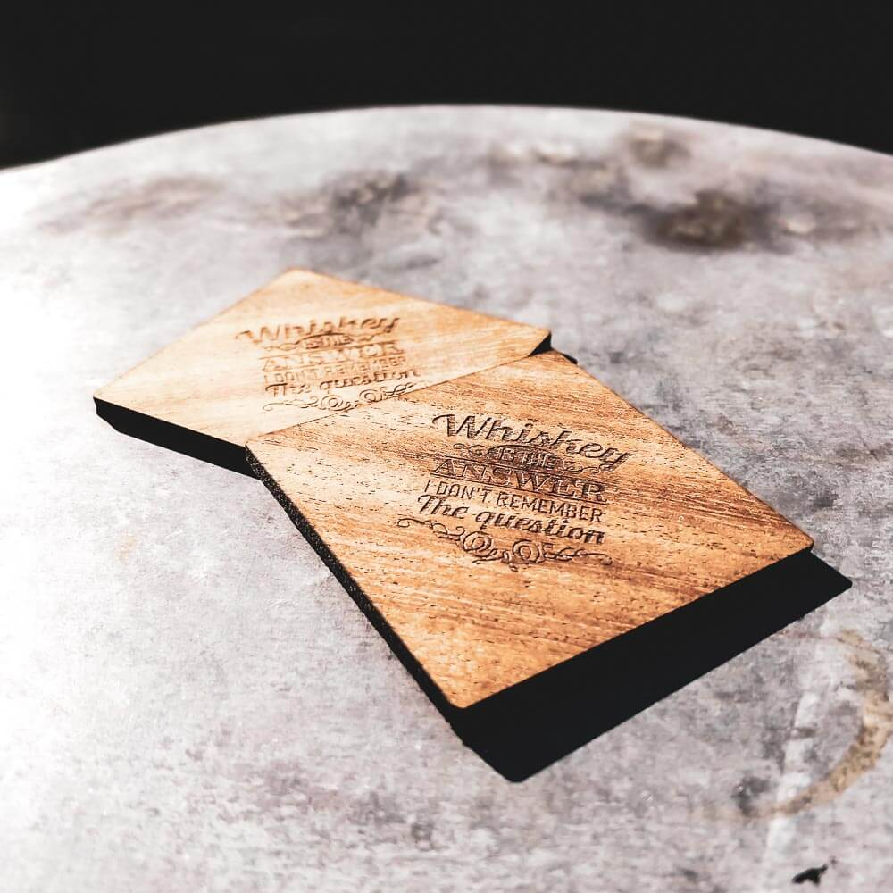 Whiskey Coasters
