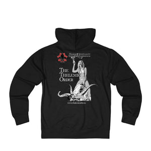 TTO Breast Logo - Babalon Back - Unisex French Terry Zip Hoodie