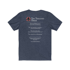 TTO Breast Pocket - Text Back - Unisex Jersey Short Sleeve Tee