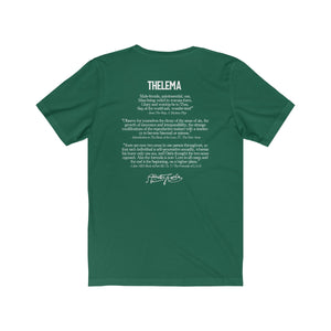 Queer Thelema - Text Back - Unisex Jersey Short Sleeve Tee