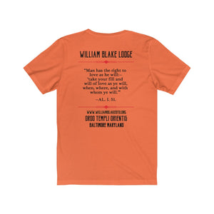 "WBL ""Man has the right to love as he will"" Lt color - Unisex Jersey Short Sleeve Tee"