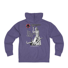 Load image into Gallery viewer, TTO Breast Logo - Babalon Back - Unisex French Terry Zip Hoodie