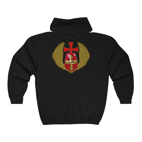 Templar Hospitaller Unisex Heavy Blend™ Full Zip Hooded Sweatshirt (Lg Sizes)