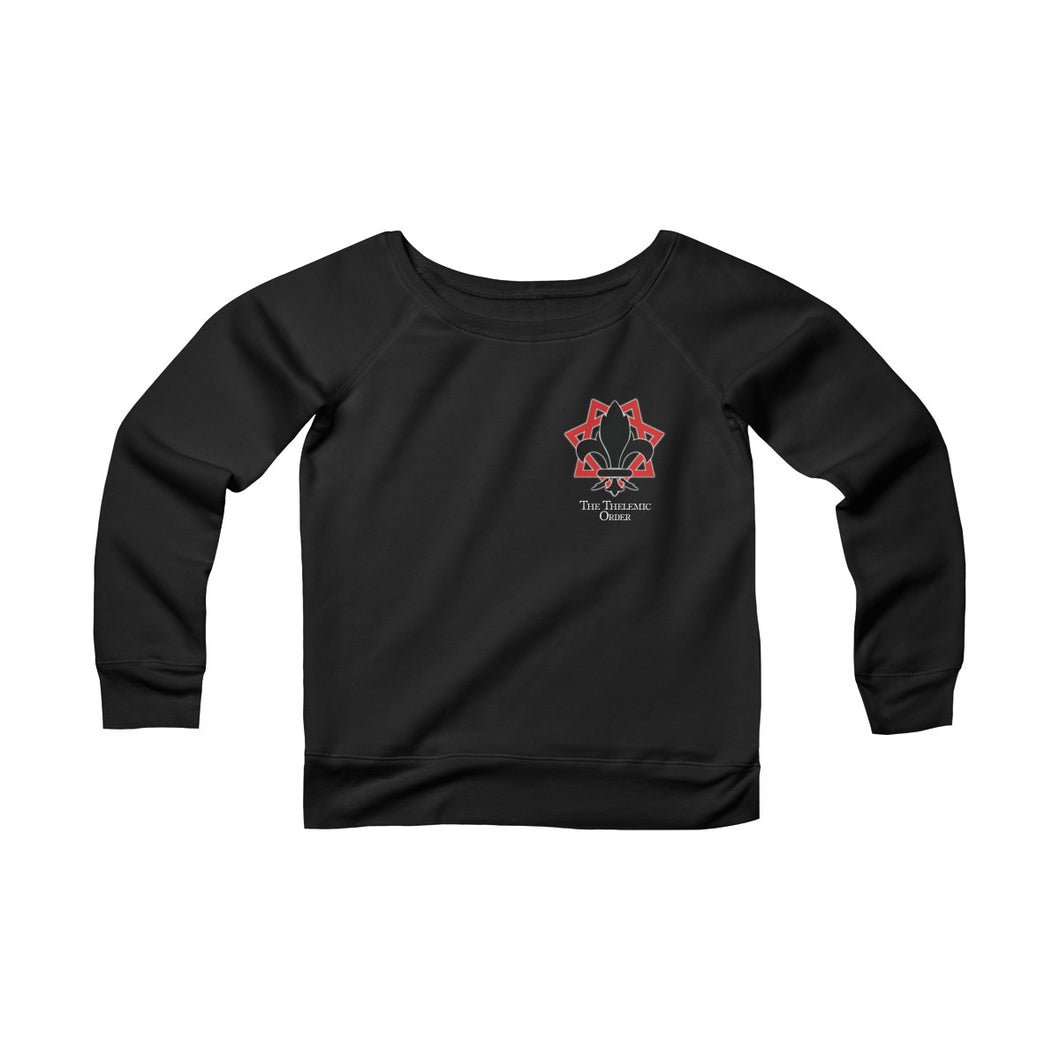 TTO Breast Logo - Fem. Bodied - Sponge Fleece Wide Neck Sweatshirt