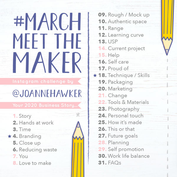 March 2020 Meet the Maker Challenge - via Blog, Day One