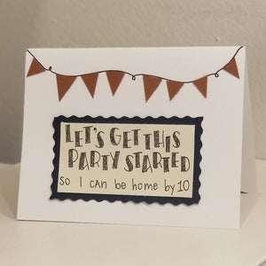 let's get this party started - greeting card