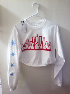 Skyline Long Sleeve (White) [crop OR full length]