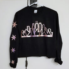 Load image into Gallery viewer, Skyline Long Sleeve Crop (Black & Rosegold)