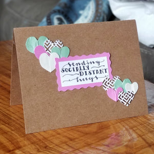 sending socially distant hugs - greeting card