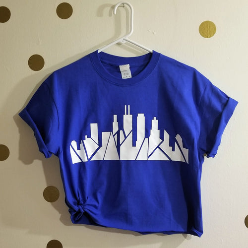 Skyline Tee (Royal Blue) [crop OR full length]