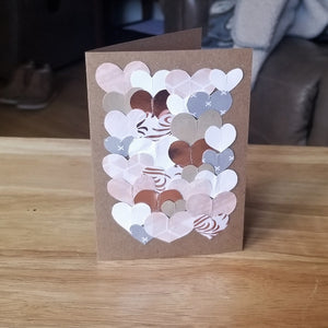 hearts collage cards - several styles & sizes