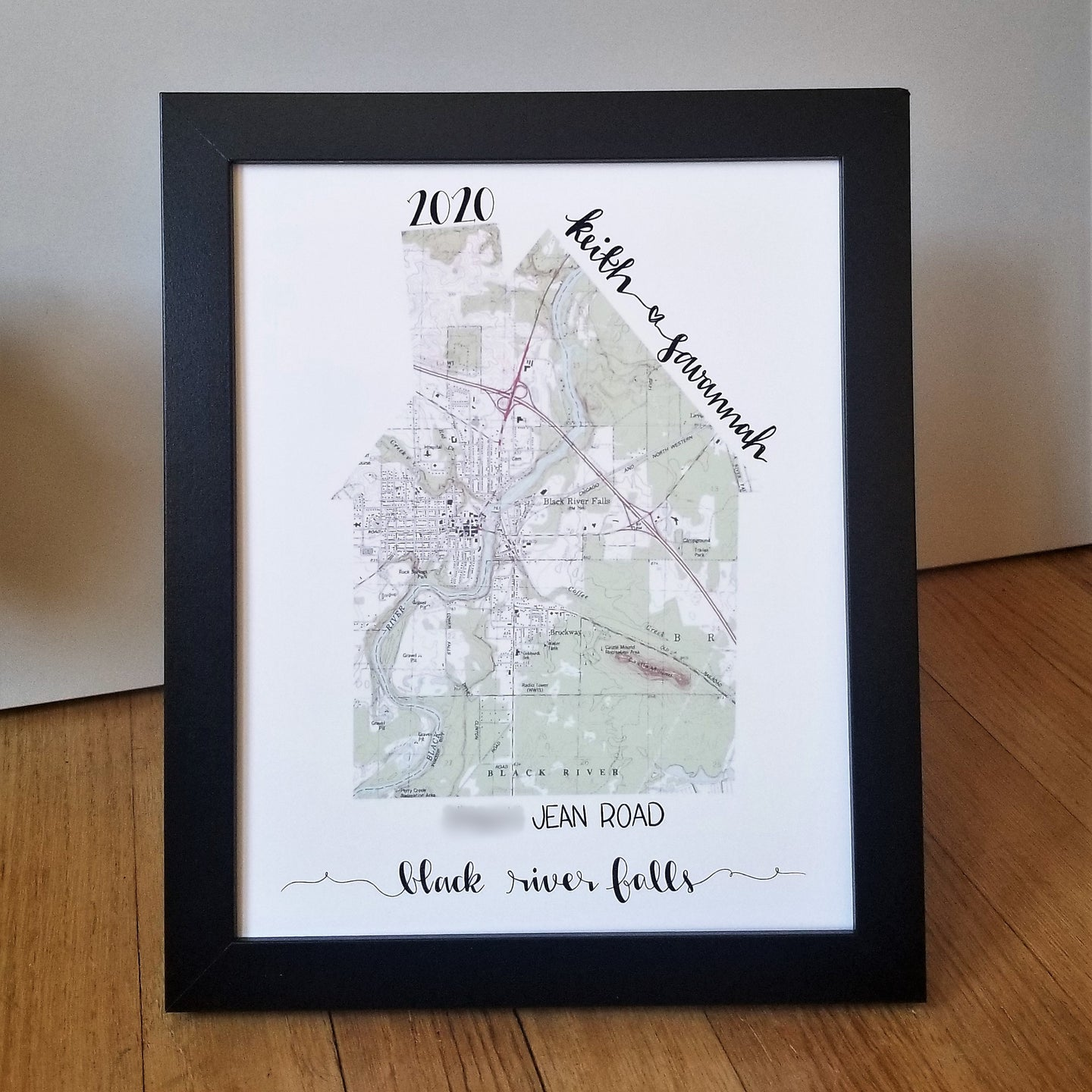 Custom Map Wall Art