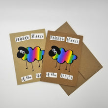 Load image into Gallery viewer, rainbow sheep of the family - greeting card