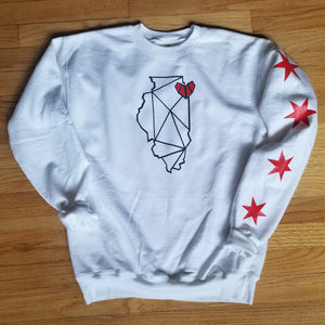 Chicago, IL Crewneck with Stars