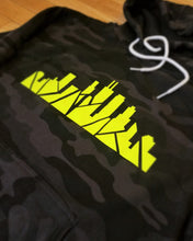 Load image into Gallery viewer, Neon Chicago Skyline Camo Sweatshirt