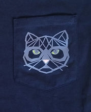 Load image into Gallery viewer, Cat Pocket Tee [crop OR full length]