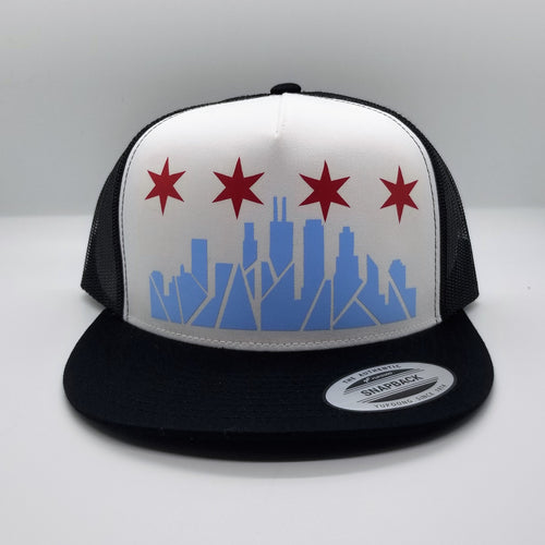 Chicago Skyline Snapback Hat