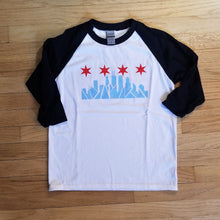 Load image into Gallery viewer, Chicago Skyline Youth Baseball Tee