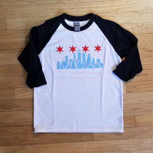 Chicago Skyline Youth Baseball Tee