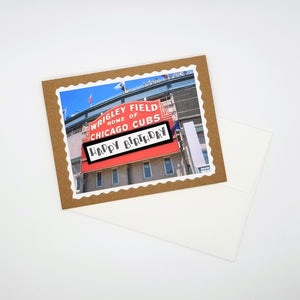 happy birthday [cubs/wrigley field] - greeting card