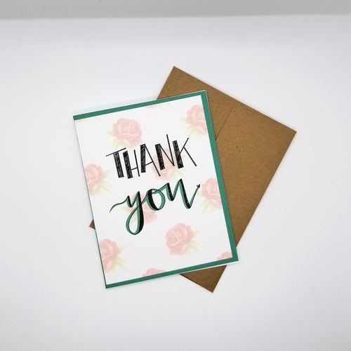 Thank You - Digitally Designed Greeting Card