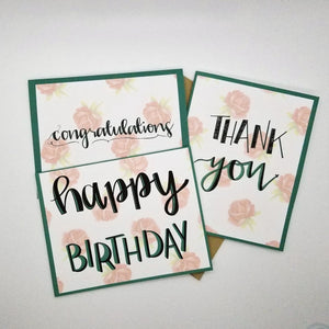 Essentials Bundle (Floral) - Set of 3 Cards