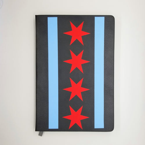 Chicago Flag Vegan Leather Journal/Notebook