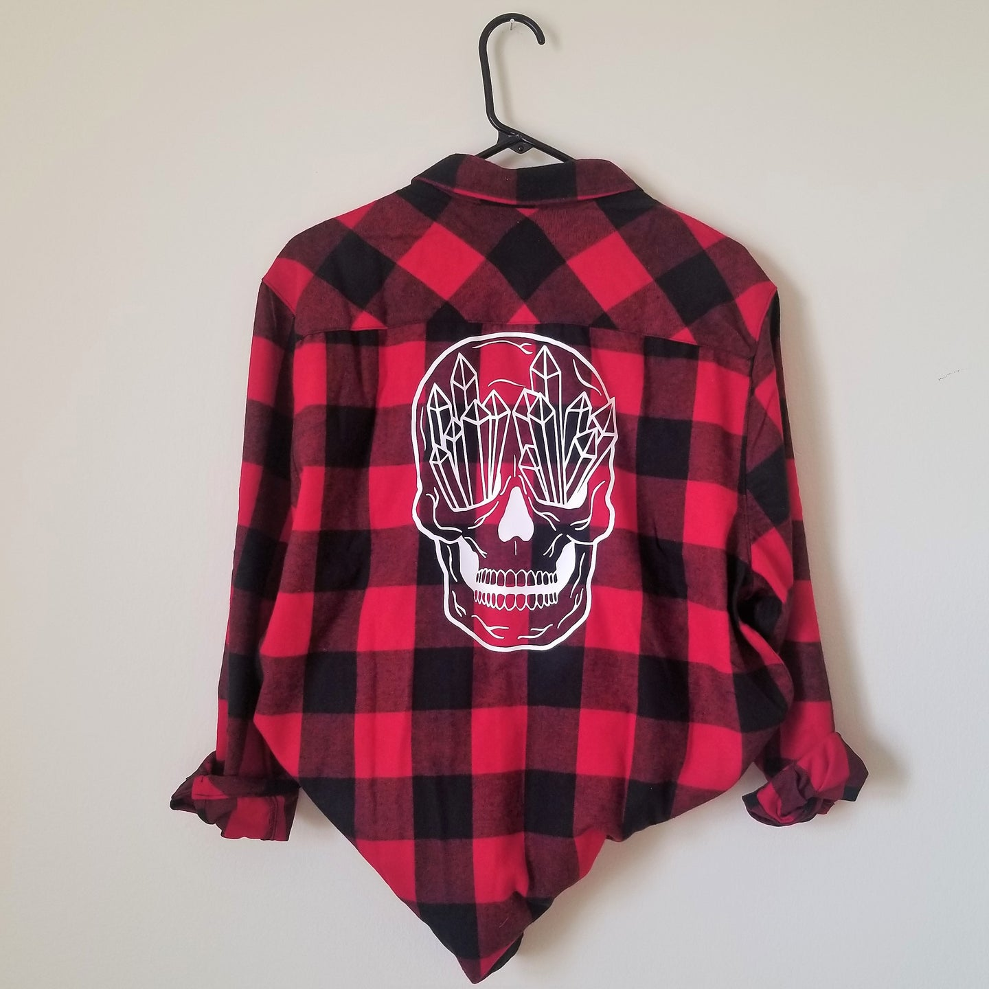 Crystal Skull Buffalo Plaid Flannel
