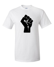 Load image into Gallery viewer, Black Lives Matter/Resist Fist Tee [crop OR full length]