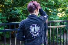 Load image into Gallery viewer, Crystal Skull Denim Jacket