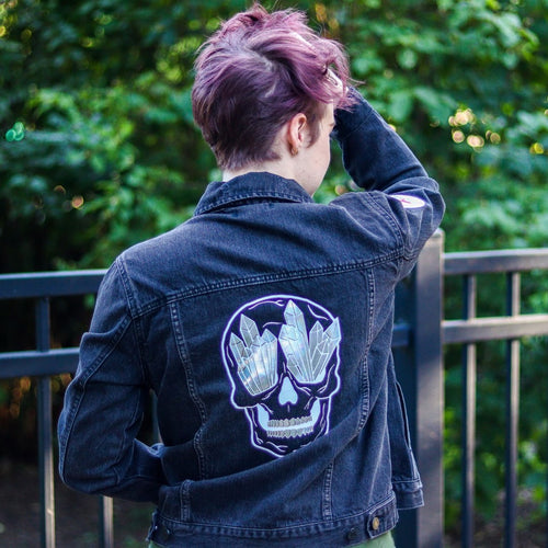 Crystal Skull Denim Jacket