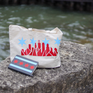 Chicago Skyline Weekender Tote