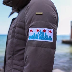 Chicago Skyline Iron On Embroidered Patch