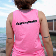 Load image into Gallery viewer, Black Lives Matter/Resist Fist Tank with BLACK LIVES MATTER on back