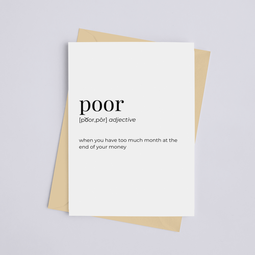 Poor - Greeting Card/Wall Art Print