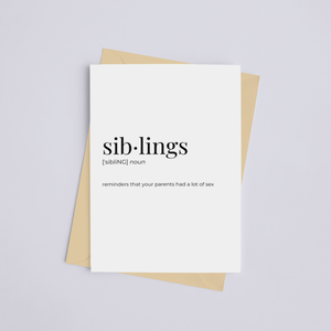 Siblings - Greeting Card/Wall Art Print