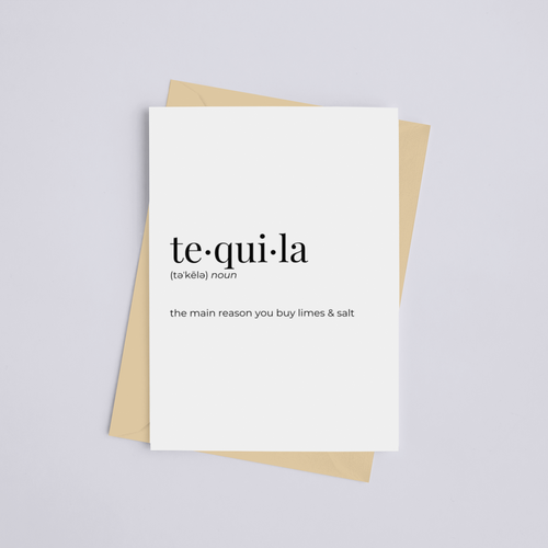 Tequila - Greeting Card/Wall Art Print