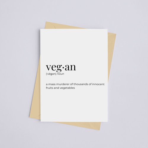 Vegan - Greeting Card/Wall Art Print