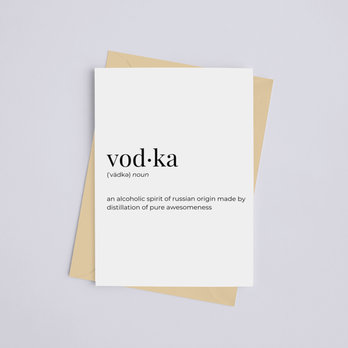 Vodka - Greeting Card/Wall Art Print