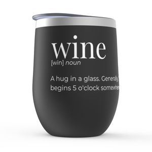 """Will you shut up, man?"" Stemless Wine Tumbler"