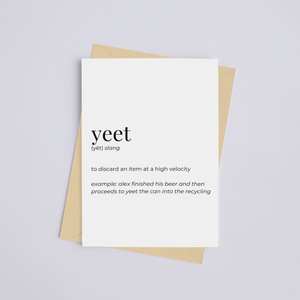 Yeet - Greeting Card/Wall Art Print