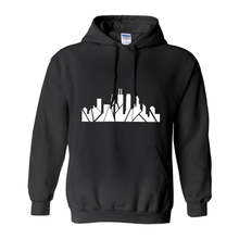 Load image into Gallery viewer, Chicago Skyline Hoodie with Inverted Skyline & Matching Stars on Sleeve