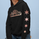 Chicago Skyline Hoodie with Rosegold Outline & Matching Stars on Sleeve