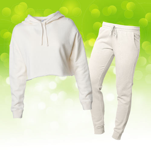 Women's Bone Crop Sweatsuit