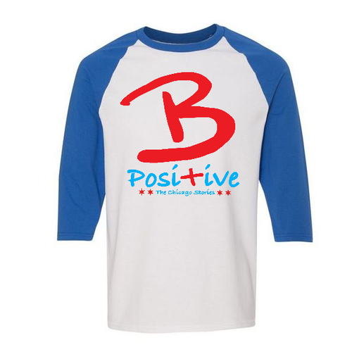 B Posi+ive Red, White & Blue Baseball Tee