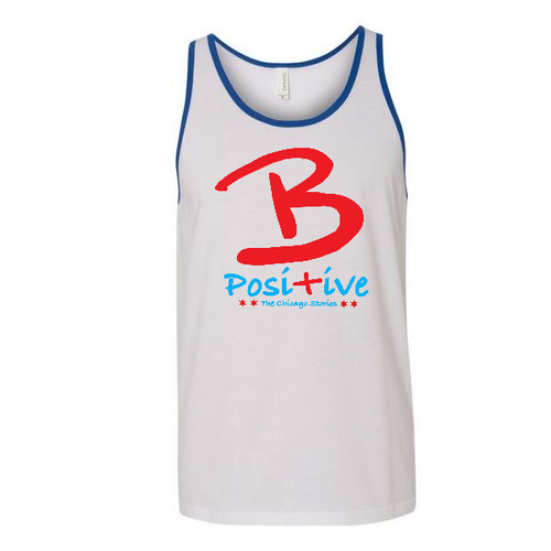 B Posi+ive Red, White & Blue Tank