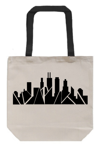 Inverted Chicago Skyline Tote